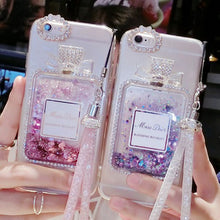 Load image into Gallery viewer, iPhone Liquid Glitter Perfume Bottle Case