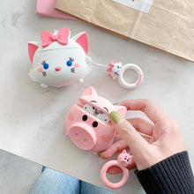 Load image into Gallery viewer, airpod cat silicone case