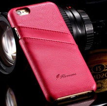 Load image into Gallery viewer, iPhone 100% Genuine Cowhide Leather Case with Card Wallet