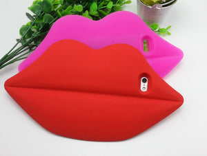 iPhone 3D Sexy Lips Soft Silicone Case