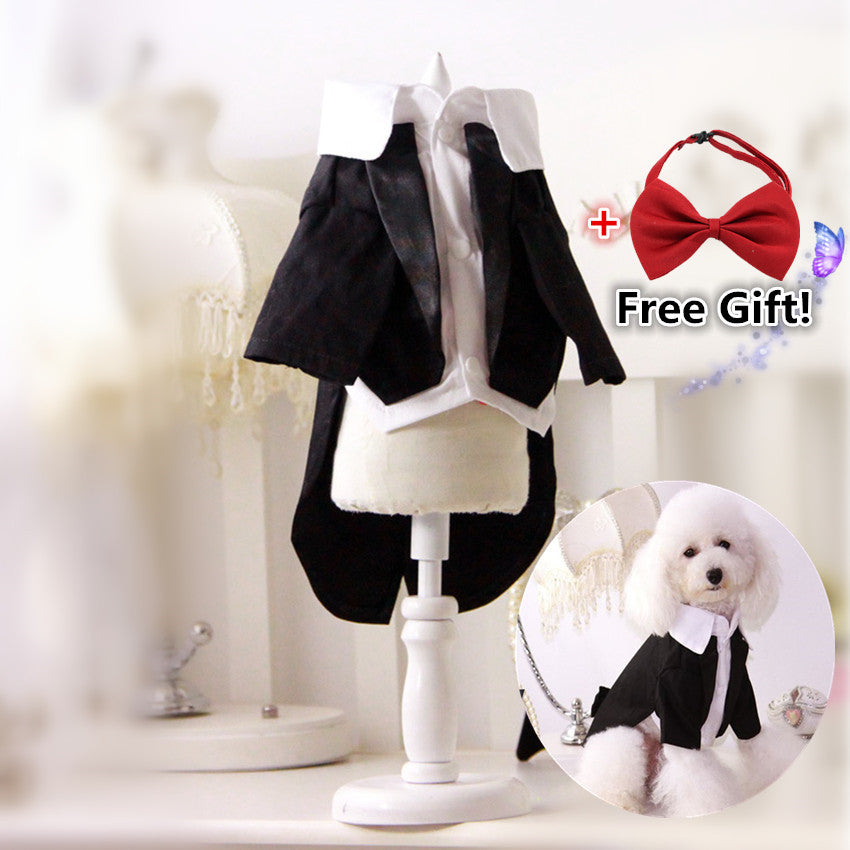Dog Wedding Tuxedo with Tails