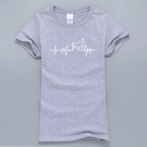 Heartbeat Unicorn T-Shirt