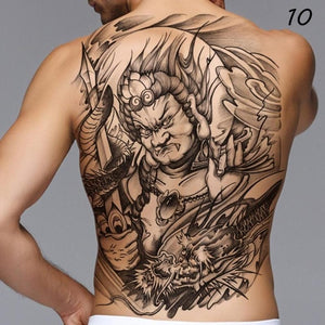 Temporary Tattoo - Full Back Warrier