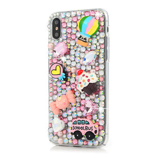 iPhone  Bejeweled Rhinestone Case - School Bus