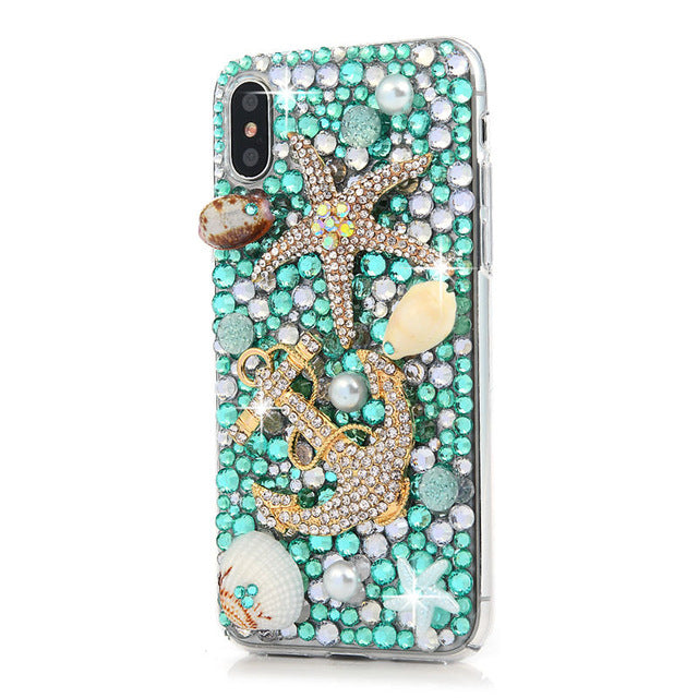 iPhone Bejeweled Rhinestone Case - Starfish