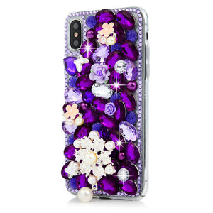 iPhone  Bejeweled Rhinestone Case - Violet