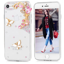 Load image into Gallery viewer, iPhone Bejeweled Rhinestone Case - Butterfly