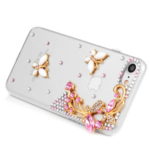 iPhone Bejeweled Rhinestone Case - Butterfly