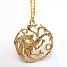 Load image into Gallery viewer, Dragon Badge Necklace