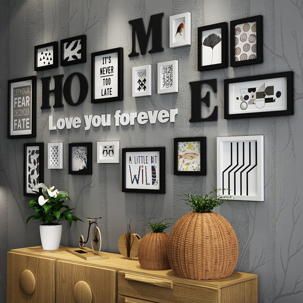 Multi Frame Wall Gallery Kit - Home Love You Forever