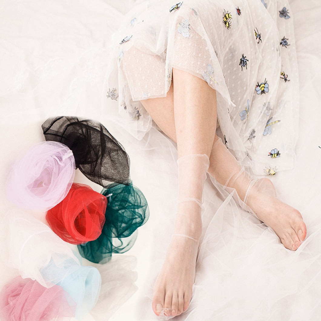 Transparent Sheet Tulle Socks