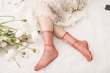 Load image into Gallery viewer, Transparent Sheet Tulle Socks