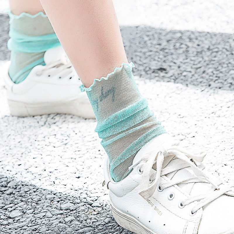 Transparent Glitter Socks