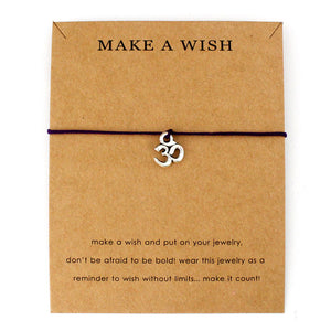 Make a Wish Silver Yoga Charm Bracelets