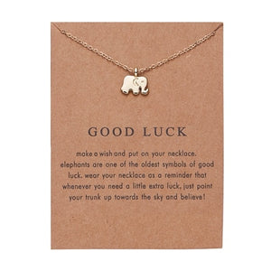Minimal Tiny Necklace - Good Luck