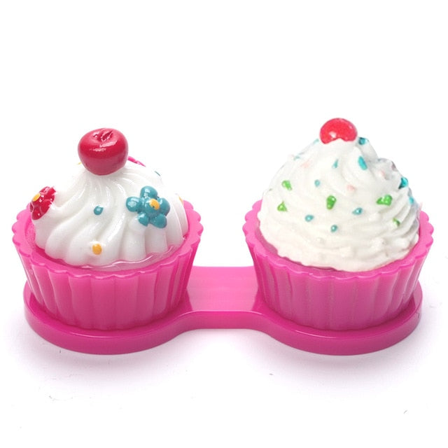 Cupcake Contact Lens Containers