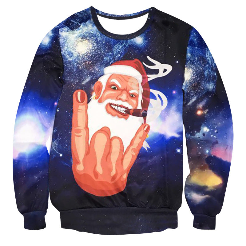 Rocking 3D Santa Ugly Xmas Sweatshirt