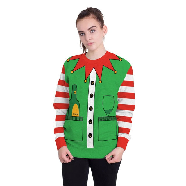Ugly Elf Xmas Sweatshirts