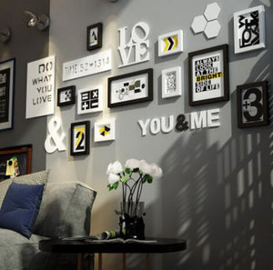 Multi Frame Letter Creative Wall Gallery Kit - Love