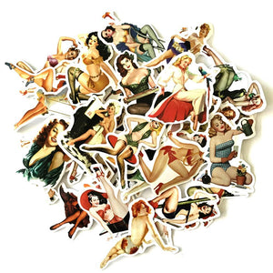 Graffiti Stickers - Pinup Girls - 50 pcs