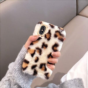 Leopard Plush Fur iPhone Case