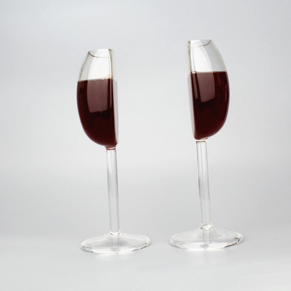 Happy Half Wine Glass - Perfect for Sharing