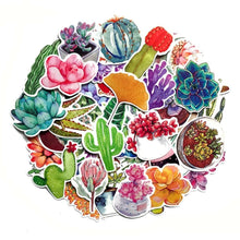 Load image into Gallery viewer, Graffiti Stickers = Succulent Plants - 70 pcs