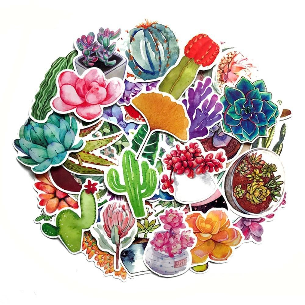 Graffiti Stickers = Succulent Plants - 70 pcs