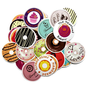 Graffiti Stickers - Donuts - 35 pcs