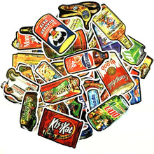 Load image into Gallery viewer, Graffiti Stickers - Spoof Food Packaging -50 pcs