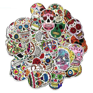 Graffiti Stickers - Fantasy Skulls - 60 pcs