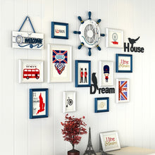 Load image into Gallery viewer, Multi Frame Letter Creative Wall Gallery Kit - Nautical UK
