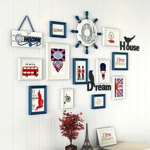 Multi Frame Letter Creative Wall Gallery Kit - Nautical UK