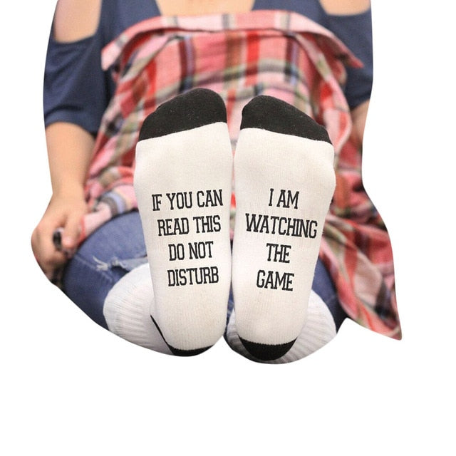 Sassy Socks - Do Not Disturb I am Watching The Game