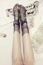 Load image into Gallery viewer, Tulle Embroidery Flowers Socks