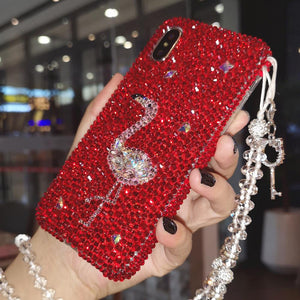 Bejeweled Flamingo iPhone Case