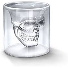 Load image into Gallery viewer, Crystal Skull Shot Glasses - Set of 4 (2.5 oz)