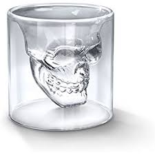 Crystal Skull Shot Glasses - Set of 4 (2.5 oz)