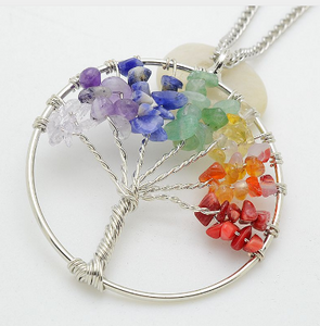 "Chakra ""Tree of Life"" Quartz Necklace"