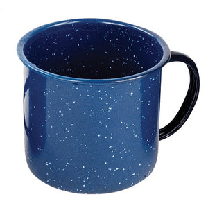 World Famous Blue Enamel Mugs