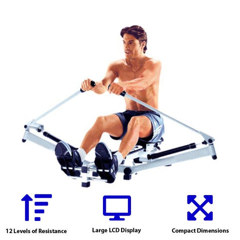 Sprint Rower - Outrigger Style Indoor Rowing Machine by HCI Fitness