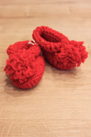 Ethical and local handmade baby booties, handmade in Melbourne
