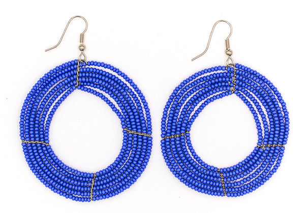 Saida - Large beaded earrings different designs