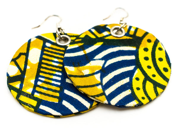 Lily - Fabric Earrings