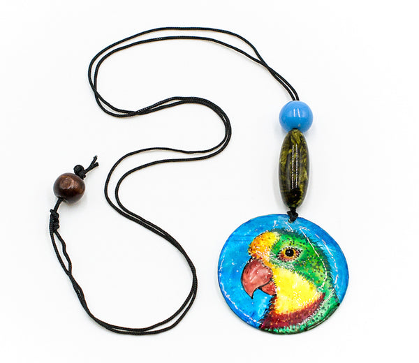 Rajula - Handpainted Shell Necklace