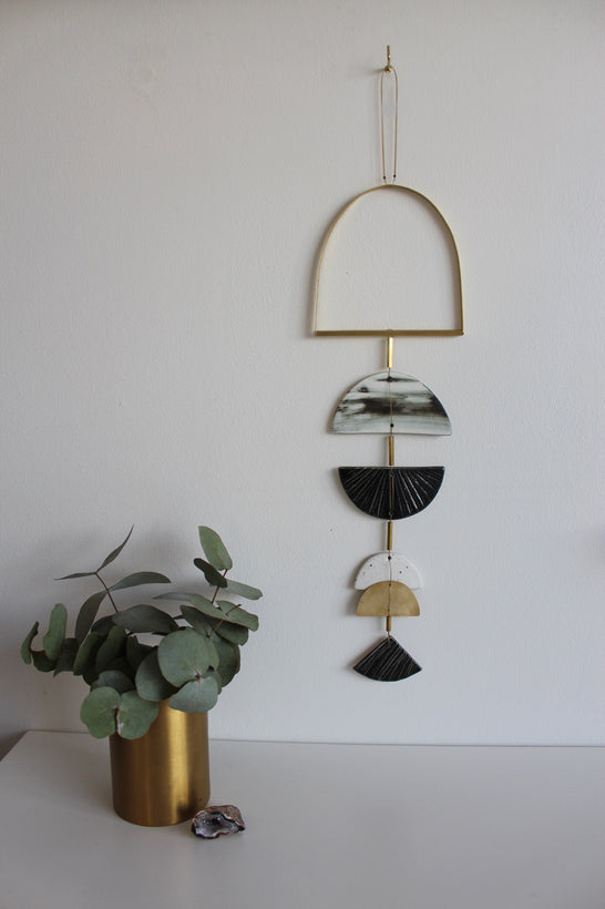 Brass + Clay Wall Hanging