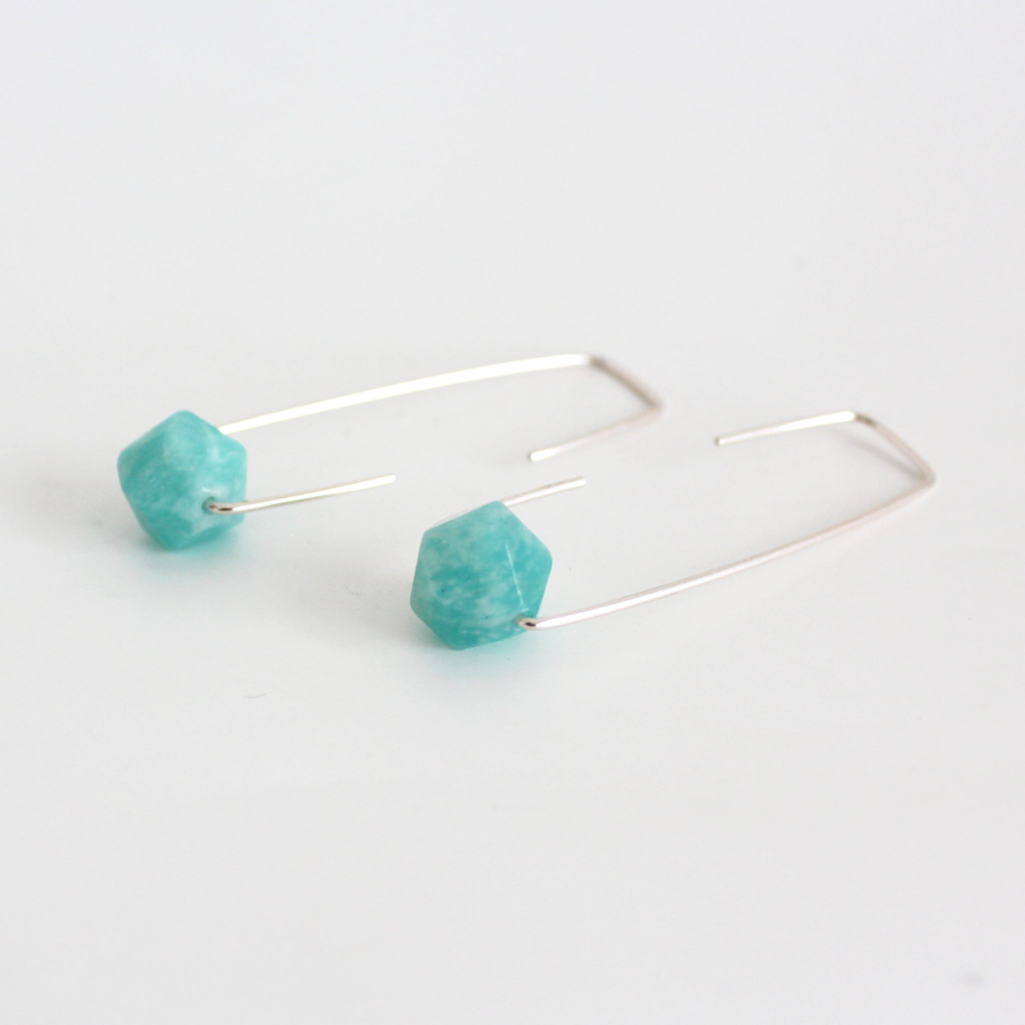 Amazonite Staple earrings