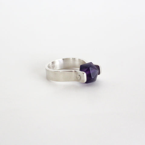 Dark Amethyst Star ring