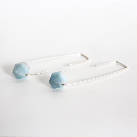 Aquamarine Staple earrings