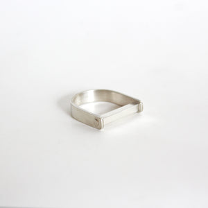 Silver horseshoe ring